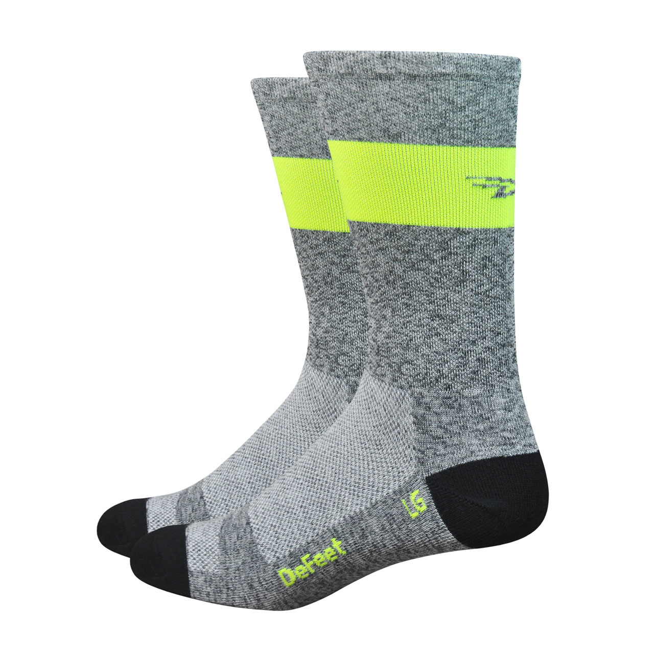 Mini-thin gray sock with yellow accent